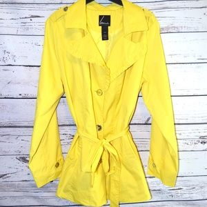 Lane Bryant Bright Yellow Lightweight Trench Coat
